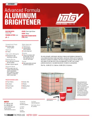 Advanced Formula Aluminum Brightener | Hotsy