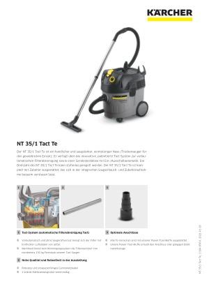 Staubsaugerrohr Teleskoprohr Saugrohr für Kärcher Professional NT 35//1 TACT