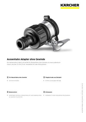 Kärcher Aussenhahn Adapter ohne Gewinde  2.645-256.0