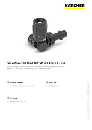 K/ärcher VP 145 Vario Power Jet 2.643-235.0