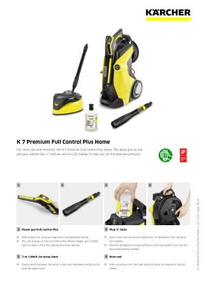 K 7 Premium Full Control Plus Home Kärcher International