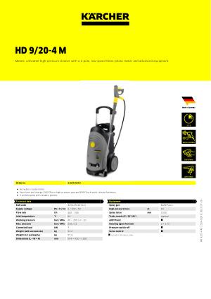 15 Meter Karcher HD 9//20-4 M Typ Hochdruckreiniger Ersatzschlauch Fünfzehn 15M M