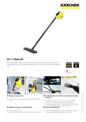 SC 1 Premium Floor Kit 5x éponge chiffons étroit pour Karcher SC 1 Floor Kit