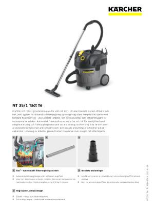 Professionell grovdammsugare NT 351 Ap Te | Kärcher