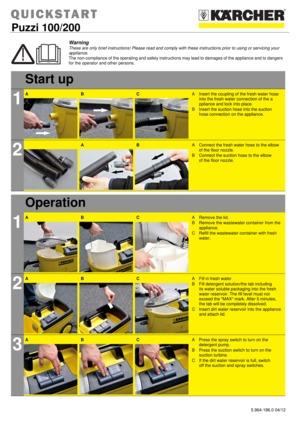 Karcher Puzzi 100 Carpet Cleaner Instruction Manual Lets See
