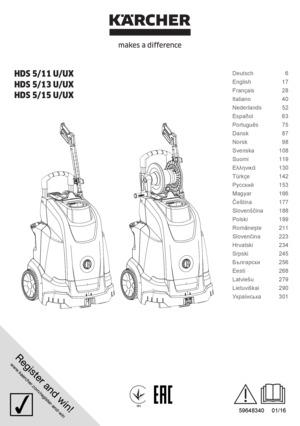 Kärcher HDS 515 UX Hetvattentvättar Professionella