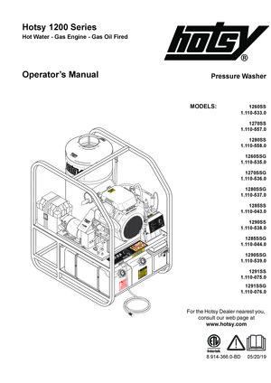 1200 series gas diesel hot water pressure washers hotsyHotsy Pressure Washer Wiring Diagram #15