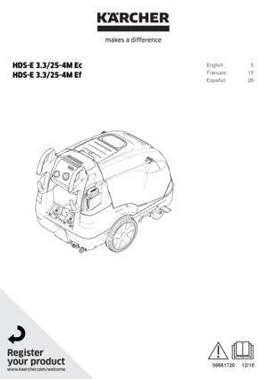 karcher hds 580 pressure washer manual