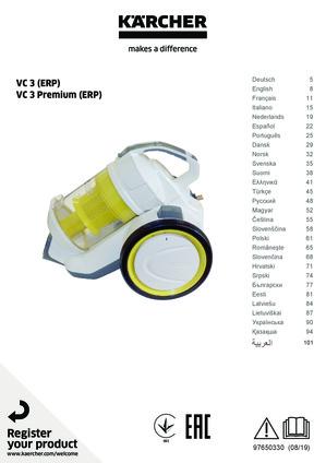 Staubsauger ohne Beutel KÄRCHER VC 3 Premium mobil