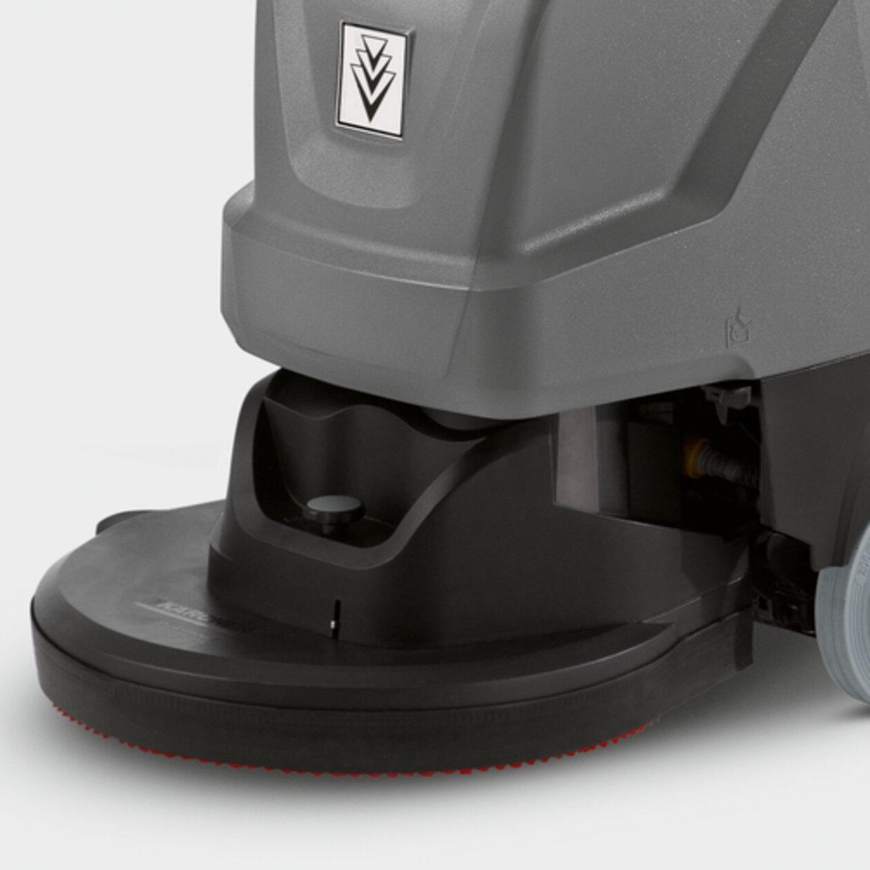 Súroló-szívógép B 40 C Bp+70Ah+D43+AutoFill+Squeegee: Kefefej tárcsatechnikával