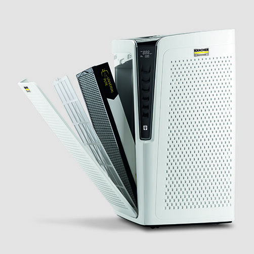 Air Purifier Oczyszczacz powietrza AF 100 Promo: 5 opcji filtrowania dla różnych rodzajów zanieczyszczeń