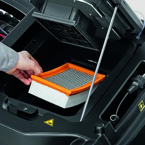 KM 90/60 R P Advanced: Tact: πλήρως αυτόματο και συνεχές σύστημα καθαρισμού φίλτρου