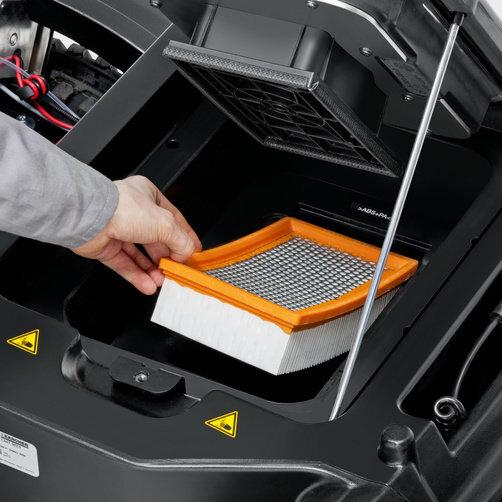 KM 90/60 R Bp Adv: Tact: limpieza del filtro permanente y totalmente automática