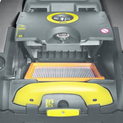 KM 75/40 W G: Potente sistema de filtros con limpieza mecánica del filtro