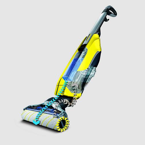 Lavasciuga pavimenti FC 5 Premium: Autopulente: i rulli si autopuliscono durante il funzionamento e nella stazione