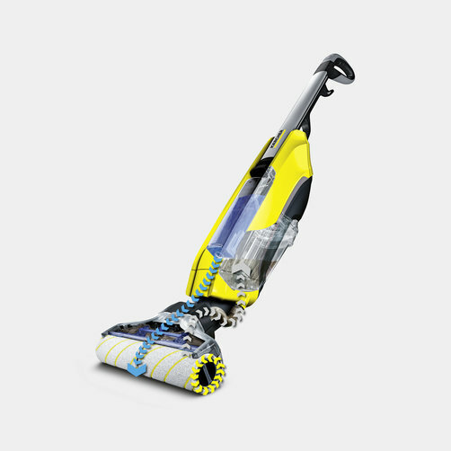 Hard floor cleaner FC 5: Self-cleaning function through automatic removal of dirt from the rollers