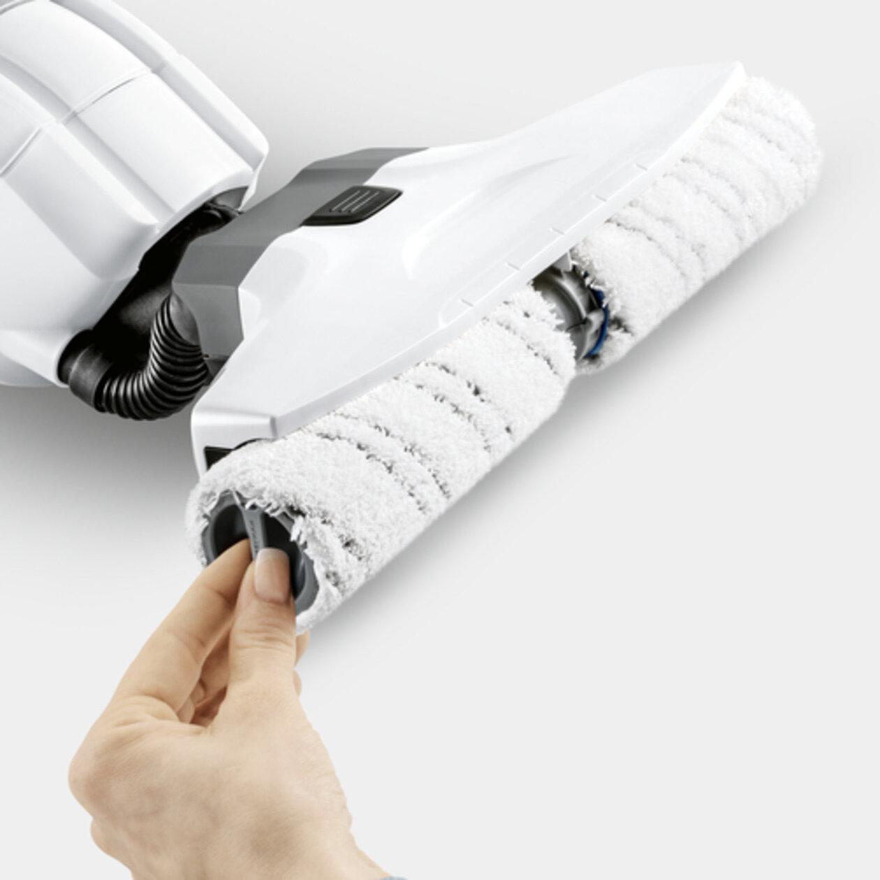 Čistič tvrdých podlah FC 5 Premium white (model 2019): Kvalitní válce z mikrovláken