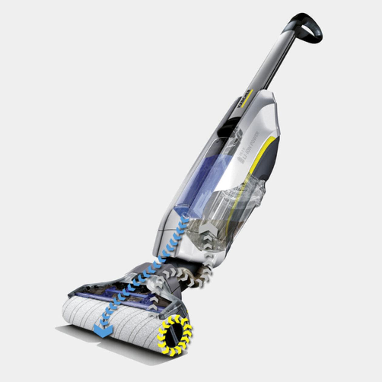 Čistič tvrdých podlah FC 5 Premium white (model 2019): Funkce samočištění automatickým odsáváním nečistot z válců