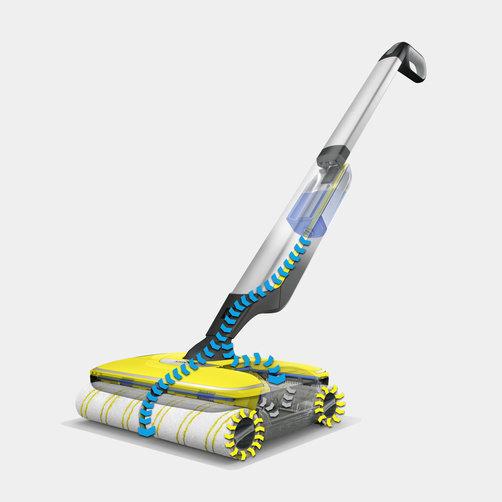 Keménypadló tisztító FC 7 Cordless (sárga): 20%-kal gyorsabb felmosási idő a hagyományos mophoz képest