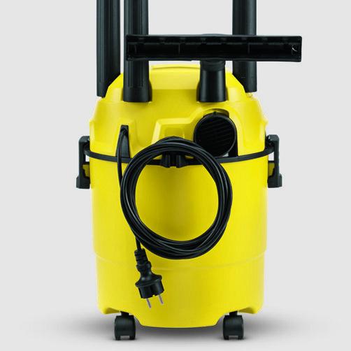 Хозяйственный пылесос WD 1 Car + фильтр-мешки: Удобное и практичное хранения кабеля и аксессуаров