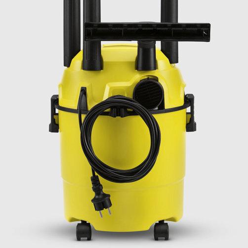 Aspiradores multiuso WD 1 *AR: Práctico almacenaje de accesorios y cables