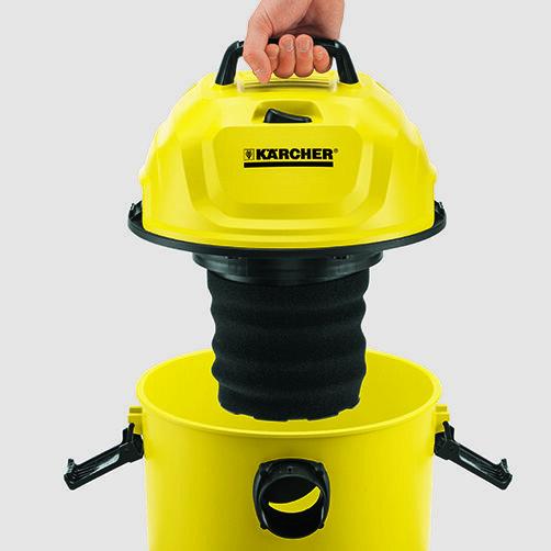 Хозяйственный пылесос WD 1 Car + фильтр-мешки: Эргономичная ручка для переноски