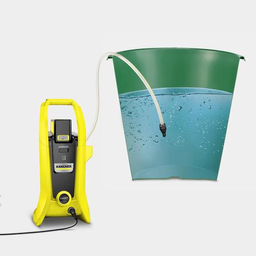 Vysokotlakový čistič batériový K 2 Battery Set: Nasávanie vody