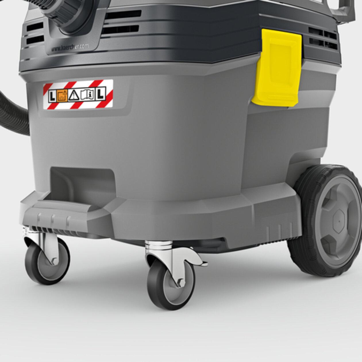 Пылесос сухой и влажной уборки NT 30/1 Tact L: Прочный контейнер с отбойниками и металлическими поворотными роликами