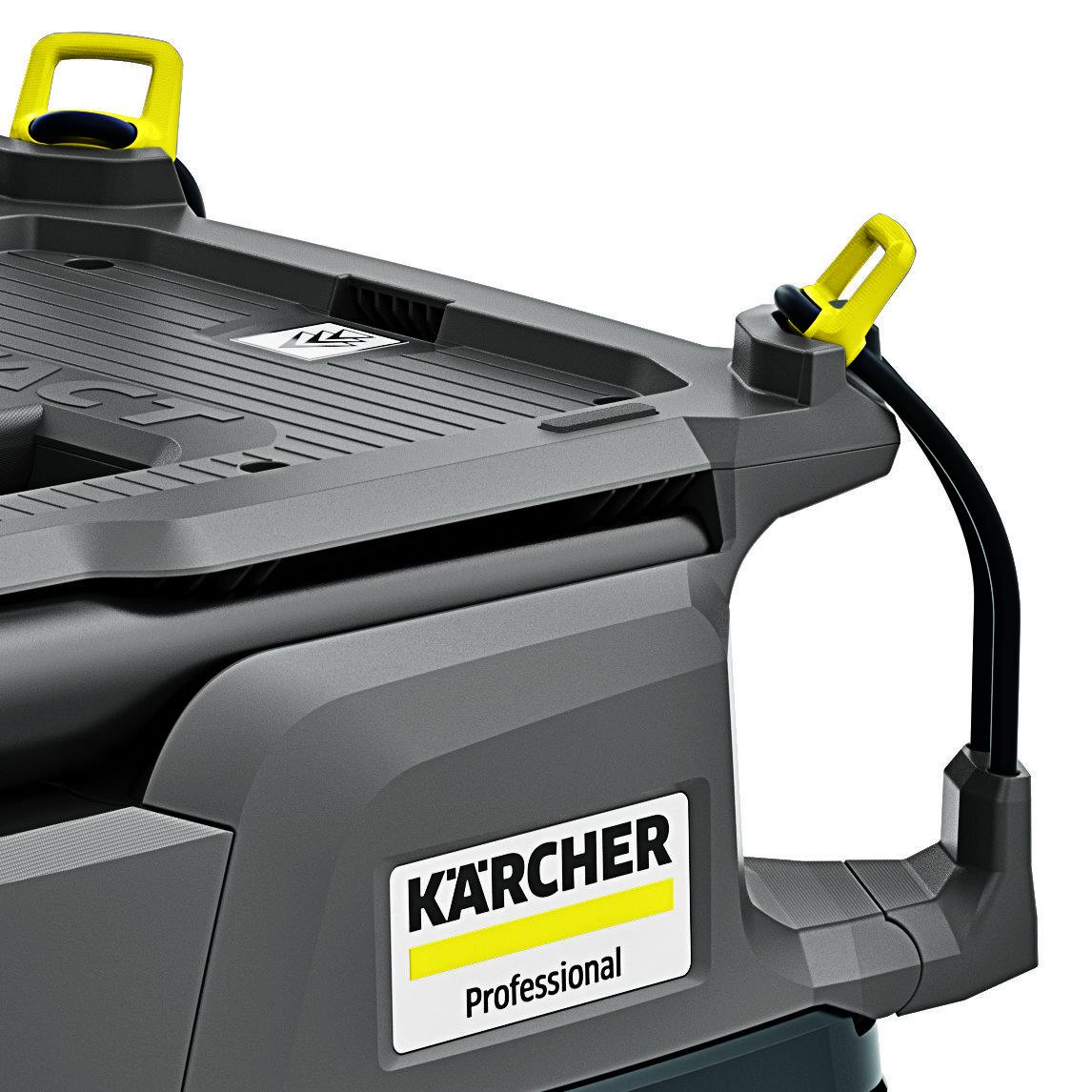 Пылесос сухой и влажной уборки NT 30/1 Tact L: Хранение гибкого шланга и кабеля питания