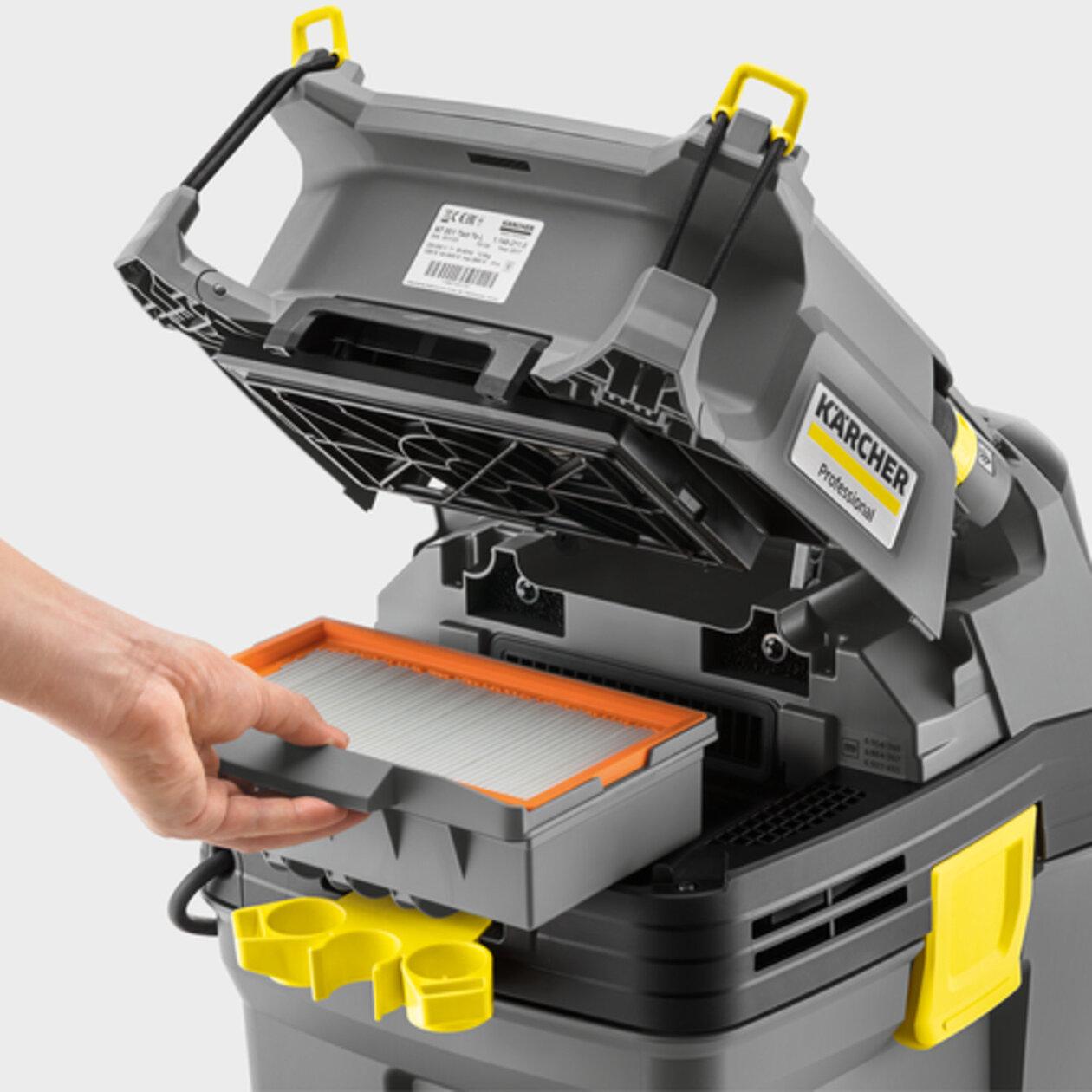 Пылесос сухой и влажной уборки NT 30/1 Tact L: Съемный корпус фильтра