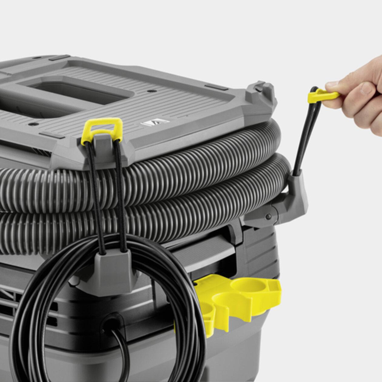 Nass-/Trockensauger NT 30/1 Ap Te L: Flexible Schlauch- und Netzkabelaufbewahrung