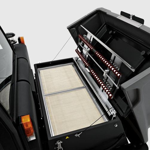 Підмітально-всмоктуюча машина KM 150/500 R D: Ефективна система фільтрації