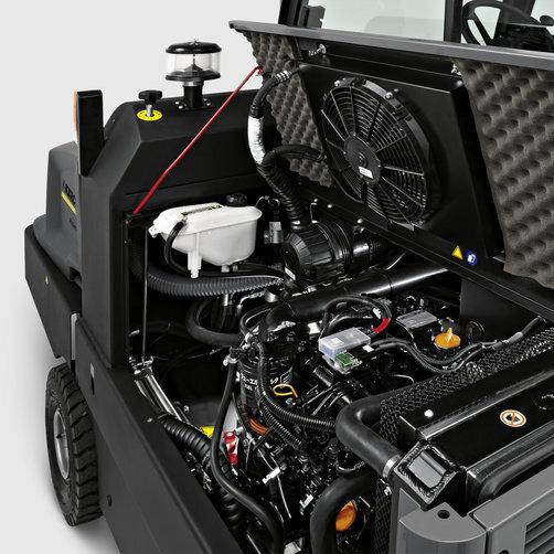 Підмітально-всмоктуюча машина KM 150/500 R D: Простота управління і обслуговування