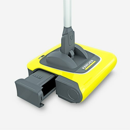 Cordless electric broom KB 5: Dirt receptacle is easy to remove and refit again