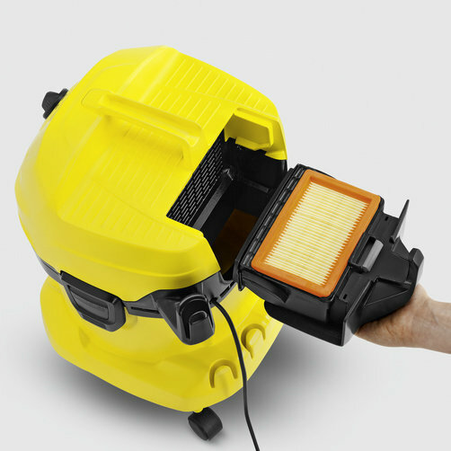 Çok amaçlı elektrikli süpürge WD 4 Çok Amaçlı Elektrikli Süpürge: Patentli filtre çıkarma teknolojisi