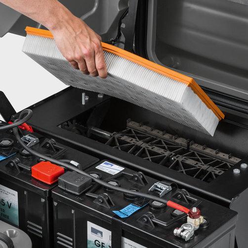 KM 85/50 R Bp: Effektivt filtersystem