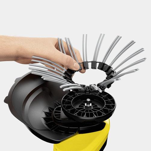 Eliminador de malas hierbas WRE 18-55 Battery Set: Cambio de cerdas sin herramienta