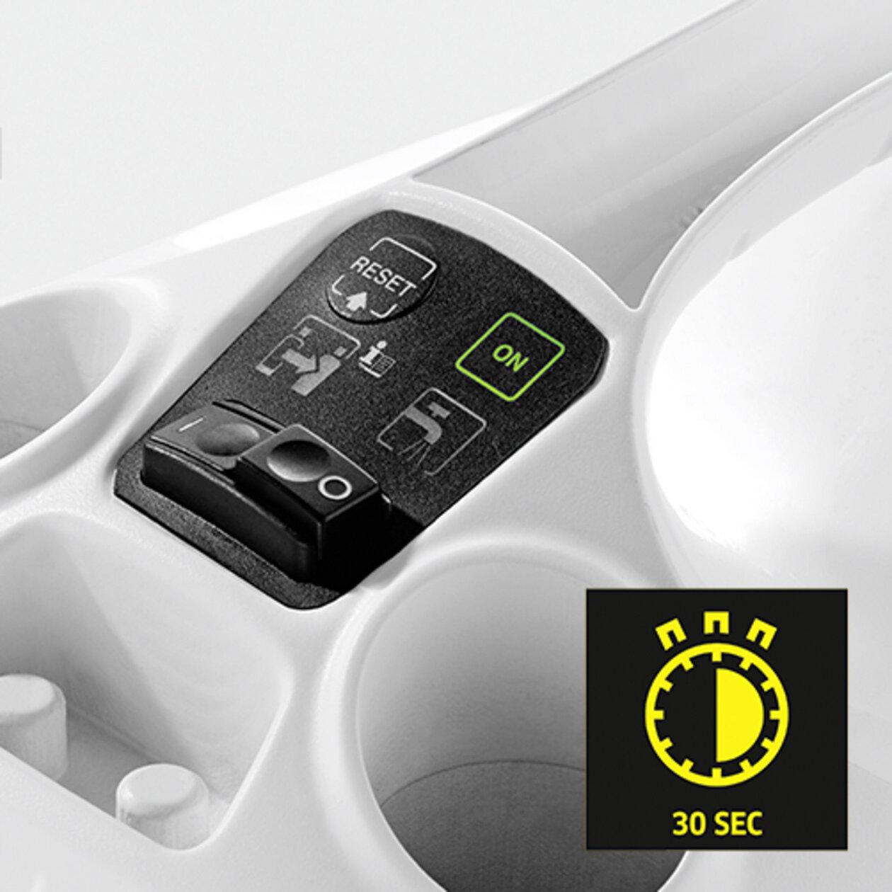 Gőztisztító SC 3 EasyFix Premium (fehér): Rövid felfűtési idő