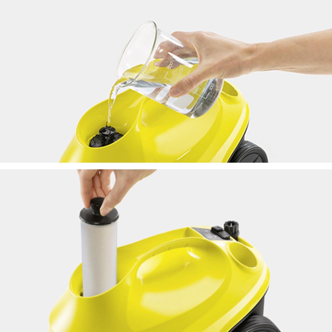 Пароочиститель SC 3 EasyFix + бутылка в подарок: Возможность доливки воды без перерыва в работе