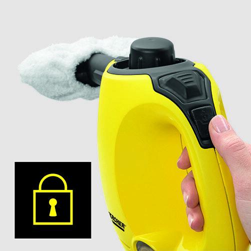 منظف البخار SC 1: قفل أمان للأطفال على الجهاز