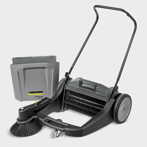 Compact floor sweeper KM 70/20 C: Large dirt container