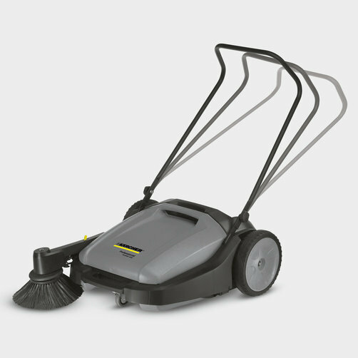 Compact floor sweeper KM 70/20 C: Adjustable push handle