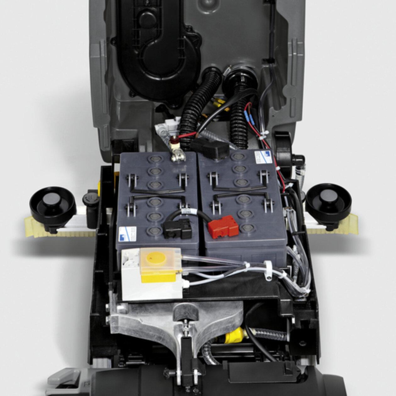 Schrob-/zuigmachine B 40 DOSE Fleet+105Ah+R55+Rinsing+AutoFi: Krachtige 105-Ah accu met inbouwoplader