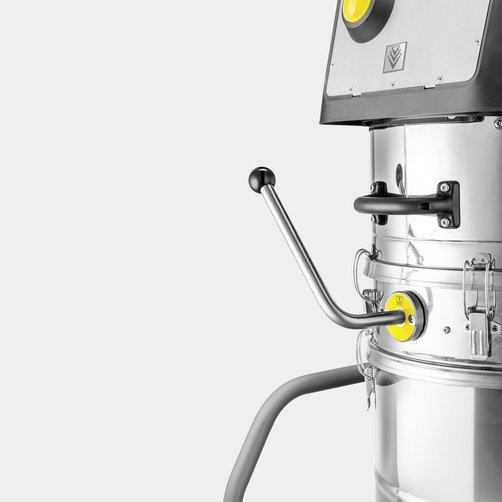 IVM 60/36-3  průmysl. vysavač: Manuální oklep filtru pro nižší provozní náklady