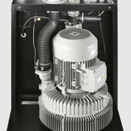 IVR 100/40 Sc: Motor IE2 altamente eficaz para proporcionar una mayor potencia de aspiración