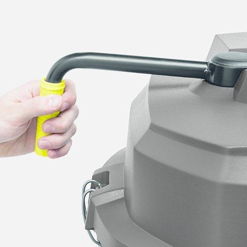 Ipari porszívó IVS 100/40: A szűrőtisztító rendszer vízszintes működtetése