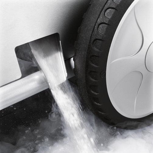 Гранулятор сухого льоду IB 15/120: Автоматичне вивантаження залишків сухого льоду