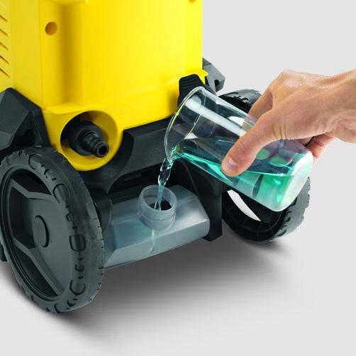 Мини-мойка K 3: Встроеный бак для моющего средства