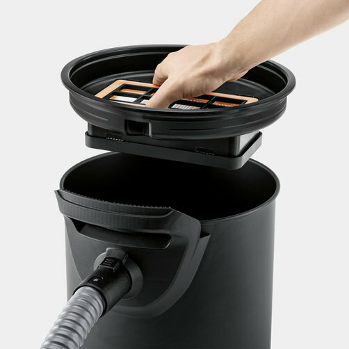 Пылесос для сбора золы AD 4 Premium: 1-компонентная фильтрующая система
