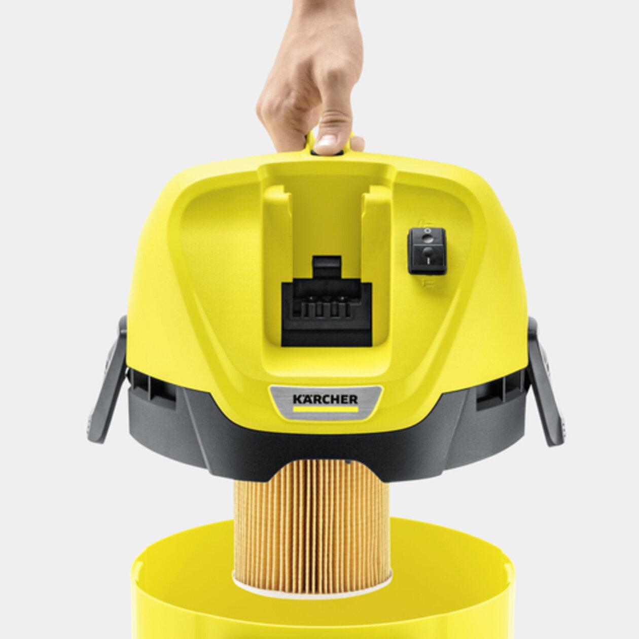 Хозяйственный пылесос WD 3 Battery Set: Специальный патронный фильтр